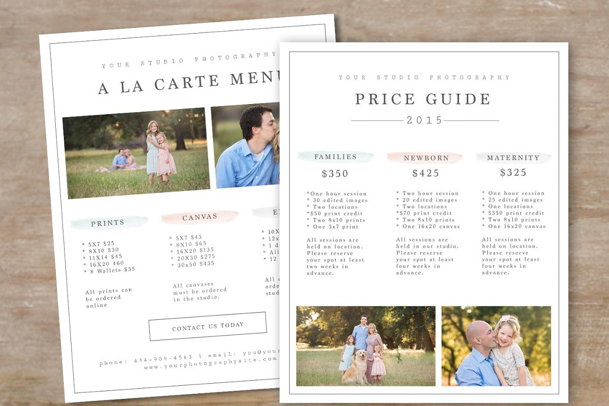 Photography Price Guide