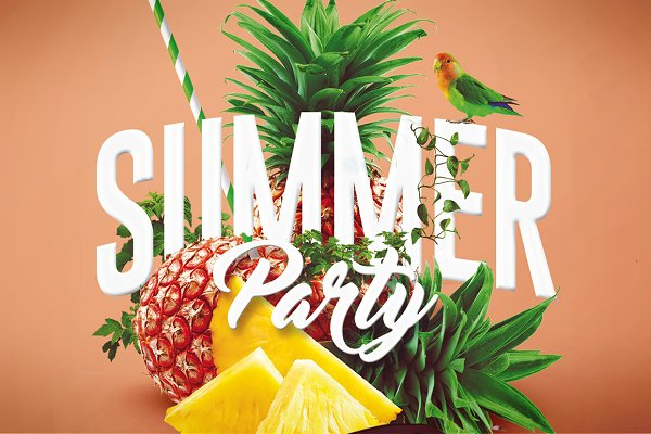 Summer Party   Psd Flyer Template 4