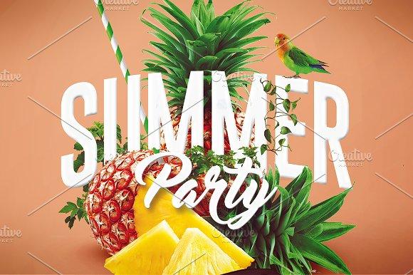 summer party psd flyer template 4 flyer templates creative market