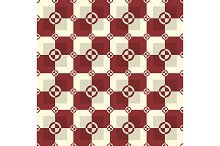 Red and sand colors pattern. Vector