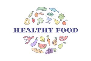 Logo for healthy food project