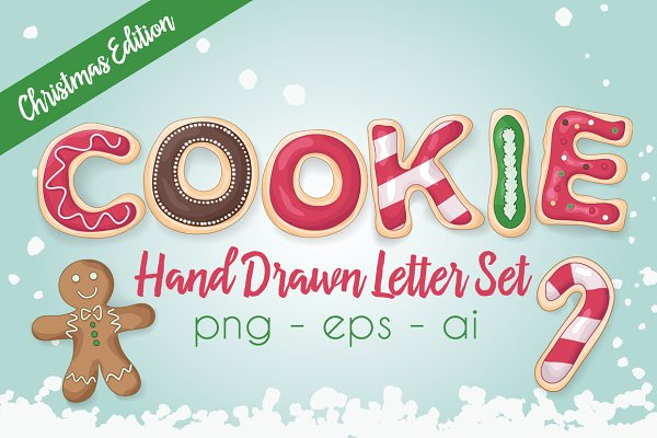 Christmas Cookie Letter Set