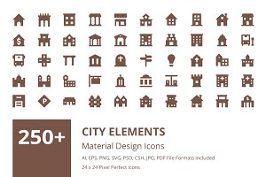 250+ City Elements Material Icons