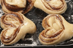 Cinnamon buns ready for baking