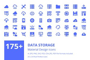 175+ Data Storage Material Icons