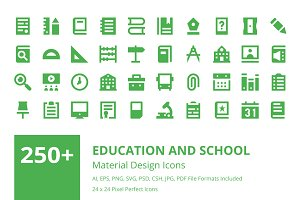 250+ Education Material Design Icons