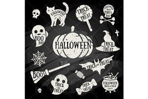 Halloween Chalk Elements