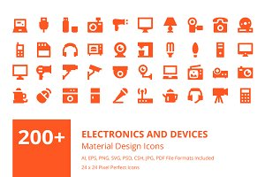 200+ Electronics and Devices Icons
