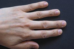 Man left hand