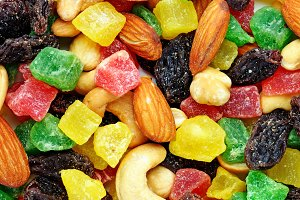 Candied fruits and toasted nuts