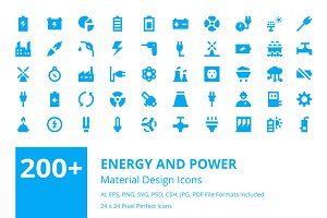 200+ Energy and Power Material Icons