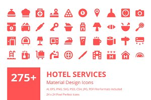 275+ Hotel Services Material Icons