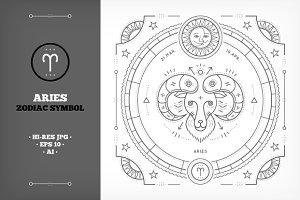 ♈ Aries Symbol Illustration