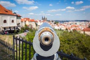Tourist telescope in Prague.