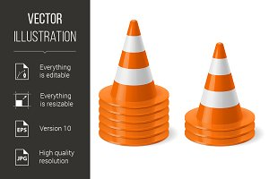 Piles of road cones