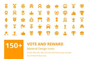 150+ Vote and Reward Material Icons