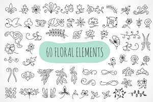 60 floral elements