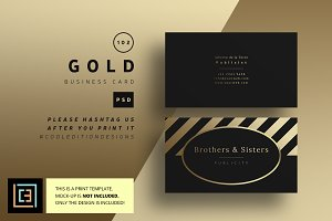 Gold - Business Card 102