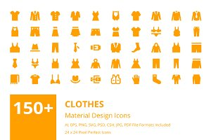150+ Clothes Material Design Icons