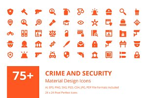 75+ Crime and Security Icons