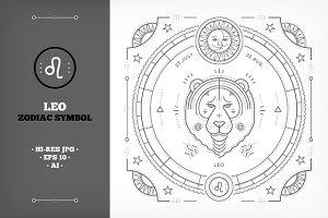 ♌ Leo Symbol Illustration