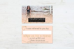 Referral Card | Pastel Greetings
