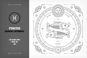 ♓ Pisces Symbol Illustration