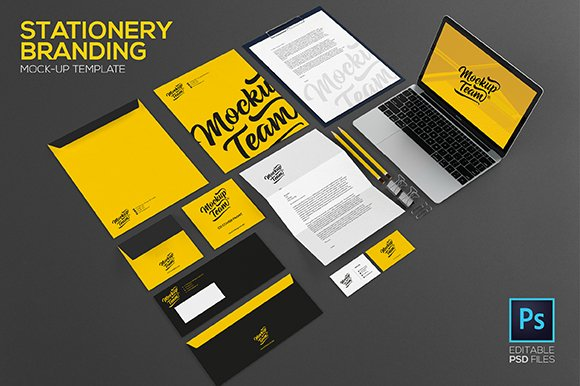 Stationery Branding Mock Up Product Mockups Creative Market