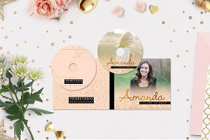 CD Label Template | Pink Shades