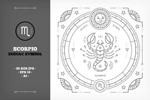 ♏ Scorpio Symbol Illustration