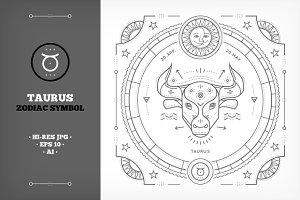 ♉ Taurus Symbol Illustration
