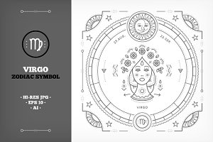 ♍ Virgo Symbol Illustration