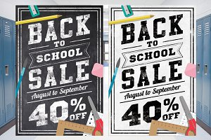 Back to School Sale Chalk Flyer