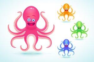 Cartoon octopus illustration