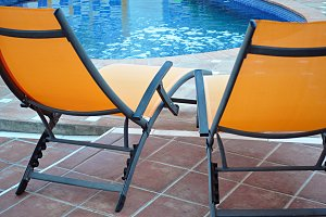 poolside loungers