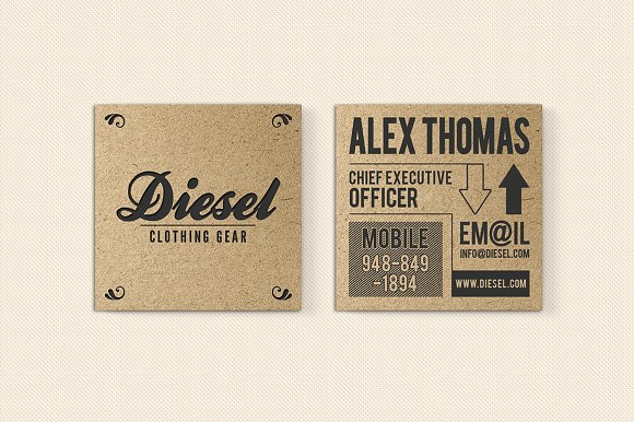 Iconic kraft paper business card business card templates iconic kraft paper business card business card templates creative market reheart Images