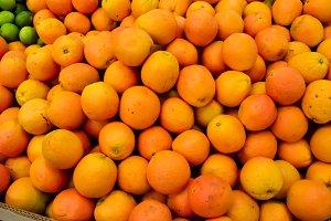 Closeup oranges texture background