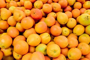 Closeup oranges texture background
