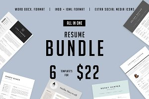 Major Resume BUNDLE | INDD + DOCX