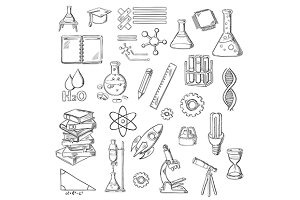 Science education laboratory sketch