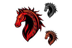 Tribal horse head icon