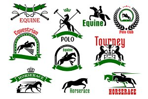 Equestrian sport and polo icons
