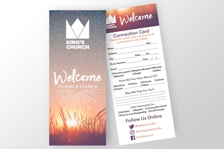 Church Connection Card Creative