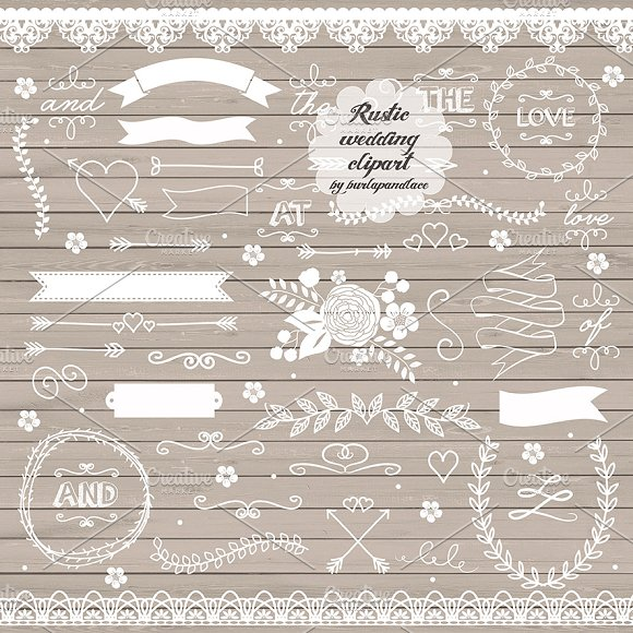 Vector Rustic Wedding Clipart II Illustrations Creative Market