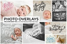 Photo Overlays | Welcome Baby Vol. 1