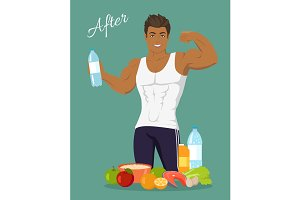 Sportive Man After Diet