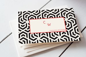Geometrical business card