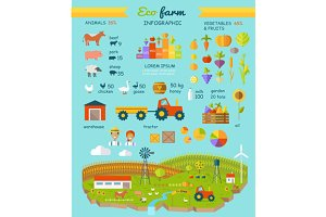 Eco Farm Infographic Elements