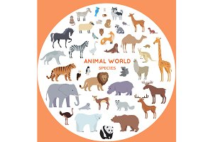 Set of World Animal Species