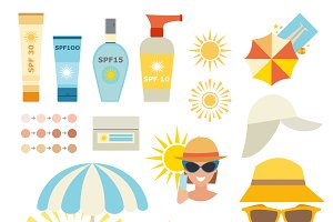 Care cream skin protection vector